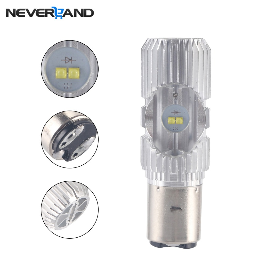 H6 Led Motorcycle Headlight Bulbs Led 1200LM BA20D H/L Lamp Scooter ATV Moto Accessories Fog Lights For Suzuki