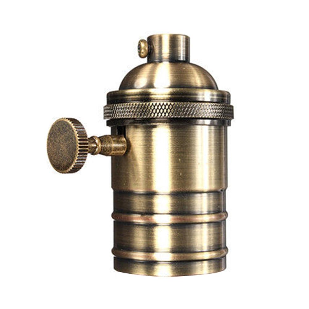 E26/E27 Light Socket Bulb Holder Antique Copper Retro Lamp Light Brass Pendant Fittings Lampholders Fixture Vintage Lamp Socket