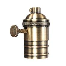 Portalámparas E26/E27, lámpara antigua de cobre Retro, accesorio de portalámparas Vintage