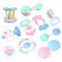 лучшая цена 10 PCS Baby Toys Hand Hold Jingle Shaking Bell Lovely Hand Shake Bell Ring Baby Rattles Toys Newborn 0-12 Mnoths Teether Toys