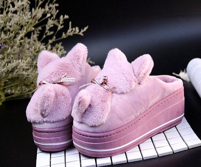 Caldo Gli Dolce pink purple 1 Coperta Sesso Scarpe Inverno Peluche A Formato grigio Donne Casa Amanti Pantofole 2 Bello Ful Di Femminile 2 Pecora Delle Cotone Da Pink vqCWxtg