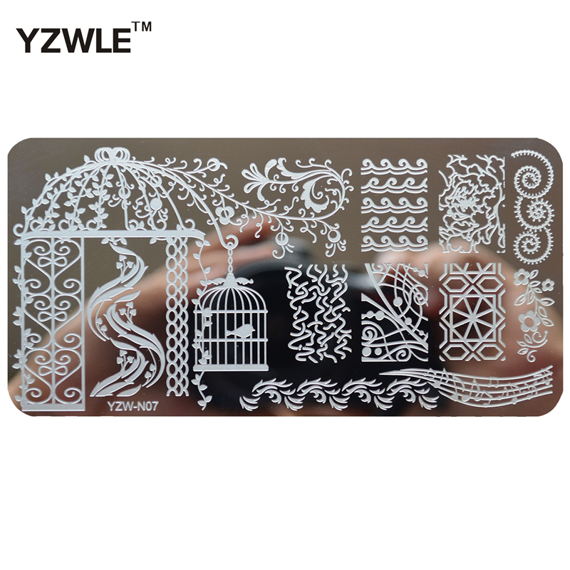 1 Piece Diy Polish Beauty Nail Art Image Stamp Stamping Plates 3d