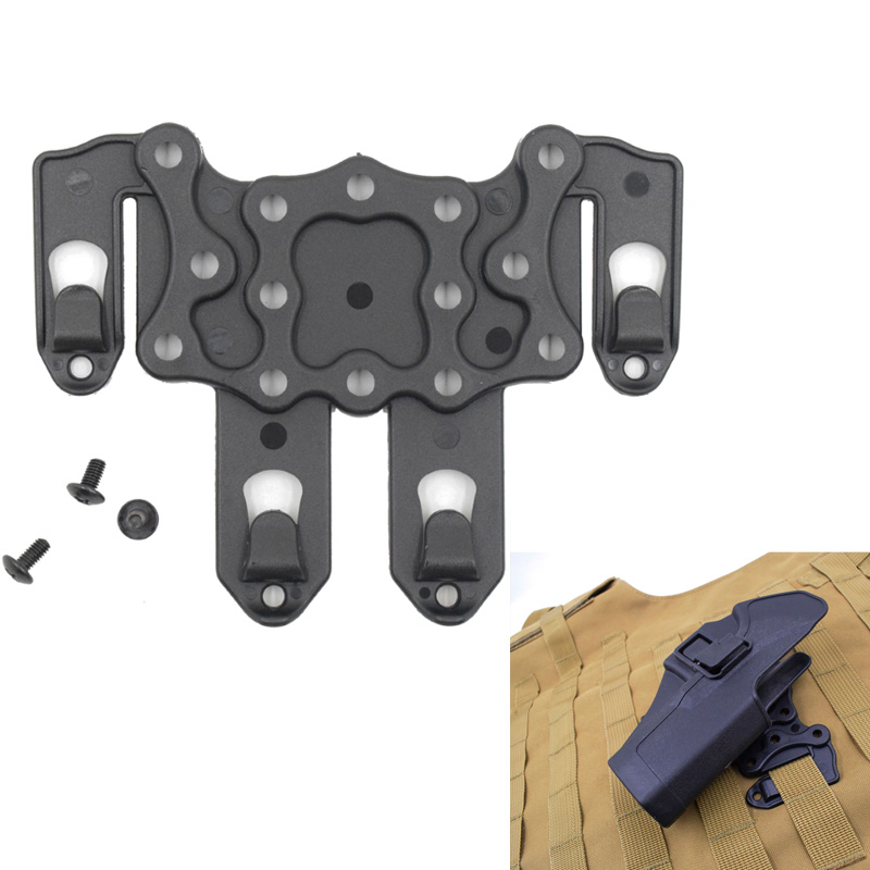 Tactical S t r i k e MOLLE Holster Adapter Airsoft Gun Holster Platform Hunting Vest Hanger Ambidextrou Black Tan