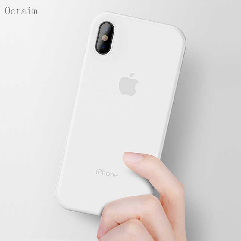 Phone Case For iPhone XR XS MAX X Ultra Thin 0.3mm Soft Clear Frosted Capa Coque PC Back Cover For iPhone 7 8 6 6S Plus 5 SE
