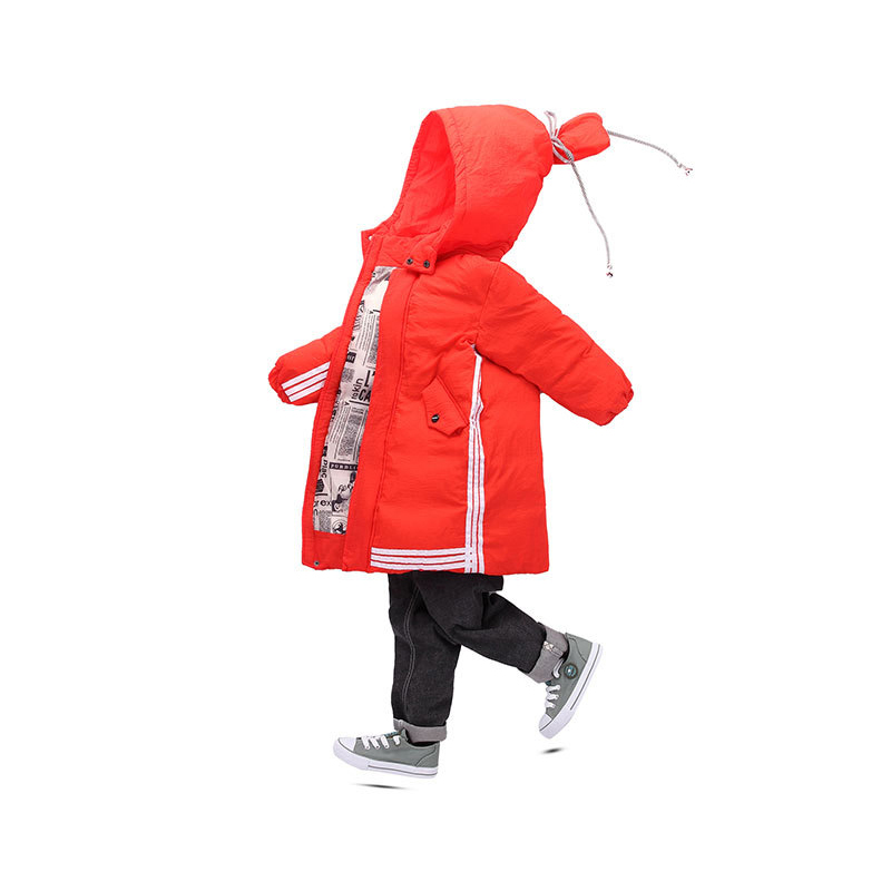 DEXIA Children Autumn and Winter Down Jacket 2018 New Children Fashion Striped Cotton Hooded Thick Outwear & Coats Boys Parkas winter men jacket new brand high quality candy color warmth mens jackets and coats thick parka men outwear xxxl