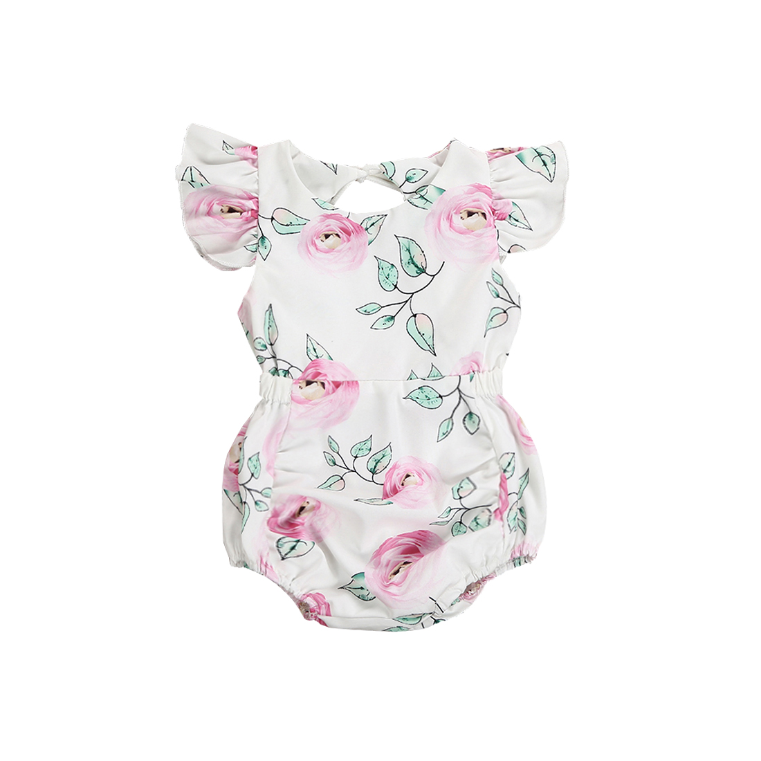 Toddler Newborn Baby Girl Kids Clothes 2018 Cute Floral   Romper   Short Sleeves Jumpsuit Summer Infant Baby Girls Clothing
