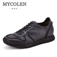 MYCOLEN Новый типичный Стиль Для мужчин повседневная обувь Брендовая Дизайнерская обувь на шнуровке мужские лоферы открытый Обувь для отдыха