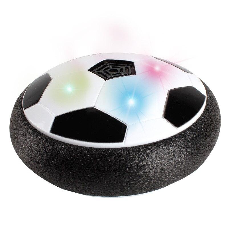 Bal Led Licht Knipperen Air Power Voetbal Disc Zweven Zweefvliegen Bal Drijvende Indoor Voetbal Speelgoed Voor Kids Gift