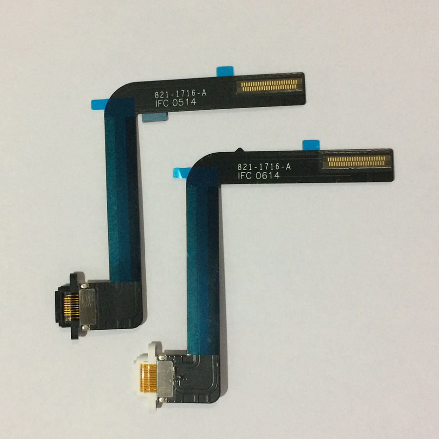 Image 4 - 10PCS For iPad 5 Air Original USB Charging Connector Dock Charger Port Flex Cable Ribbon Black / White Replacement Repair Parts-in Mobile Phone Flex Cables from Cellphones & Telecommunications on