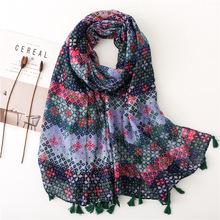 2019 Women Printing Plaid Scarf Designer Luxury Summer and Spring Ladies Shawl Brand Head Hijab plaid Scarves