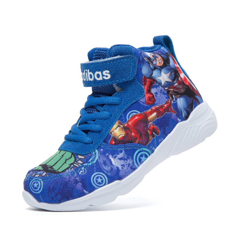 2019 Kids Sneakers For Boys Basketball Shoes Running The Avengers Baby Casual Children Shoes Sport Boot Cartoon Gamin Chaussure