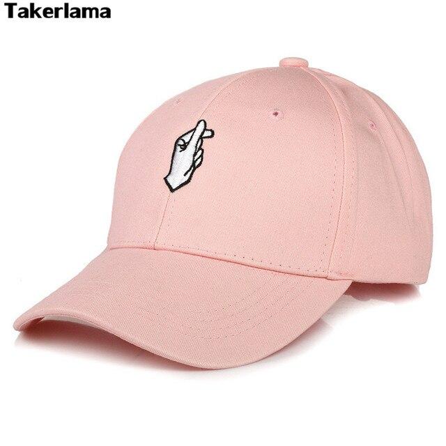 569f0c905c2 Fingers Heart Snapback Baseball Hat KPOP Same Type Unisex Sport Visor Trend Cap  Flipper Little Heart