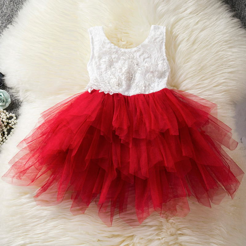 HTB1UKMvbdfvK1RjSspfq6zzXFXam Lace Little Princess Dresses Summer Solid Sleeveless Tulle Tutu Dresses For Girls 2 3 4 5 6 Years Clothes Party Pageant Vestidos