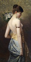 Classical figurative painting canvas portrait art poster picture court painting standing beauty modern decorative art
