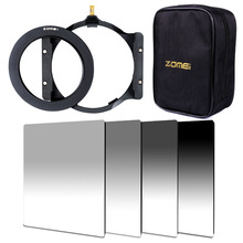 Zomei 150*100mm G.ND ND2+ND4+ND8+ND16 Neutral Density square filter+filter holder+16 slot case+67/72/77/82/86mm adapter ring
