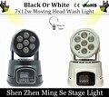 1 pcs CREE 7x12 W quad RGBW mini led moving head wash luz LED luzes do palco Mini LED movendo a Cabeça 14 canais