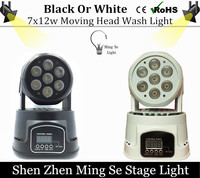 1pcs CREE 7x12W RGBW Quad Mini Led Wash Moving Head Light LED Stage Lights Mini LED