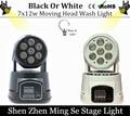1pcs CREE 7x12W RGBW quad mini led wash moving head light LED stage lights Mini LED Moving Head 14 channels