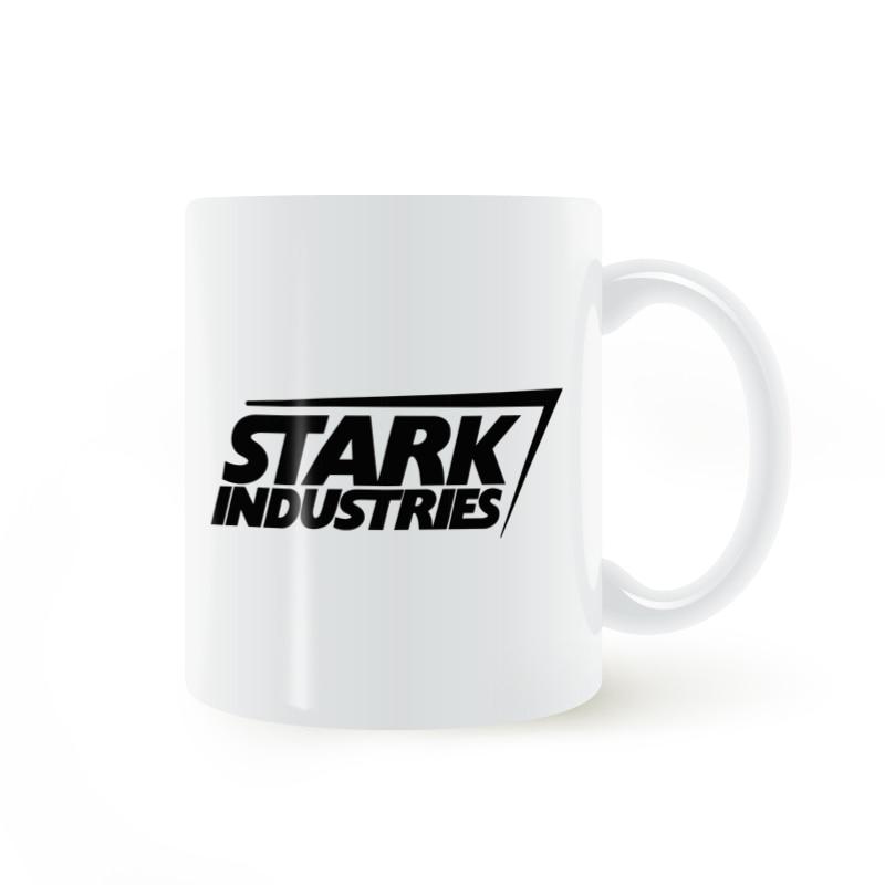 Stark Industries Iron Man Mug Coffee Milk Ceramic Cup Creative DIY Gifts Home Decor Mugs 11oz T1233