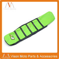 Ribbed Green Gripper Soft Seat Cover For Kawasaki KX85 KX100 14 16 Dirt Pit Bike Motorcycle