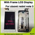 Blanco pantalla LCD Completa con Marco Nuevo de Reparación de Piezas de Pantalla Táctil teléfono celular de reemplazo digitalizador para redmi note 3 nota hongmi 3