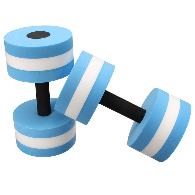 bd195ad7489 1 Pair Water EVA Aerobics Dumbbell Aquatic Barbell Sports Foam dumbbell  Pool Swimming Weight Lifting Exercise Fitness equipment