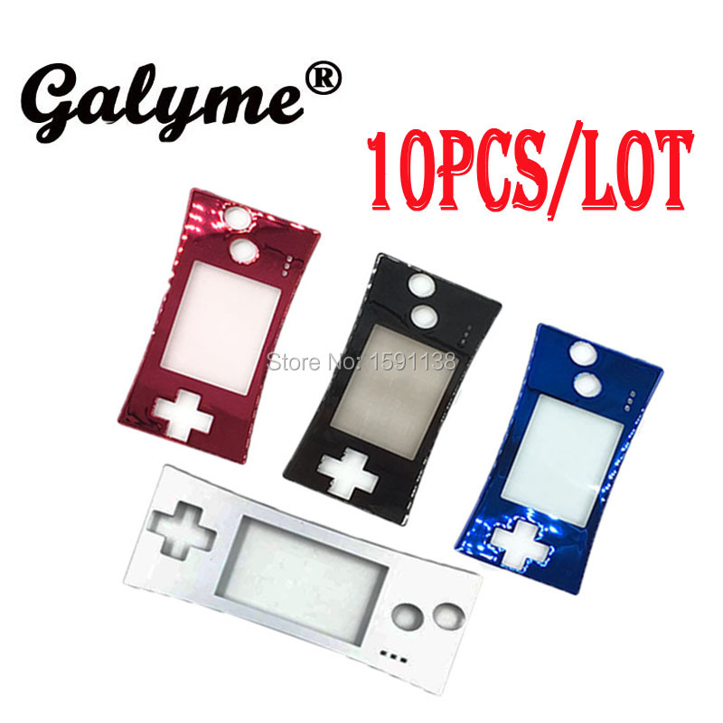 10pcs/lot New Multi-Color Choose Fashion Style Front Faceplate Cover For GBMGameboy Game Console Boy Micro System Front Case