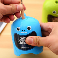 1 Pc Electric Pencil Sharpeners For Students Dinosaur Pencil Cutting Machine Green Blue Deli 0501