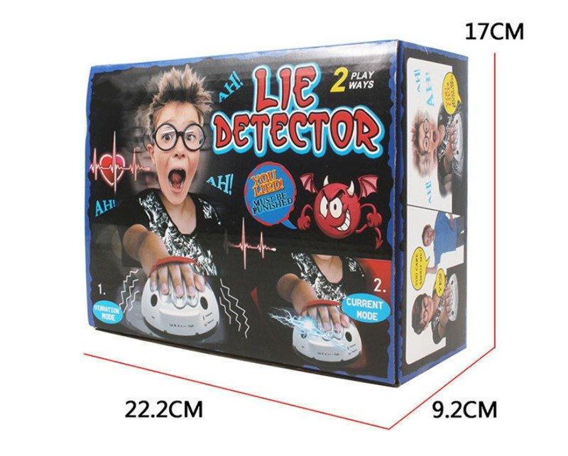 Tricky смешной регулируемый взрослый Полиграф Тест Микро ток вибрирующий детектор лжи шокирующий лжец истина вечерние игровые консоли Подарочная игрушка - Цвет: Original box