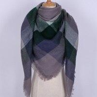 Luxe Winter Sjaal Warm Grote Vrouwen Nieuwe 2017 Pashmina Kasjmier Sjaal Merk Vierkante Plaid Vrouwelijke Sjaals Deken