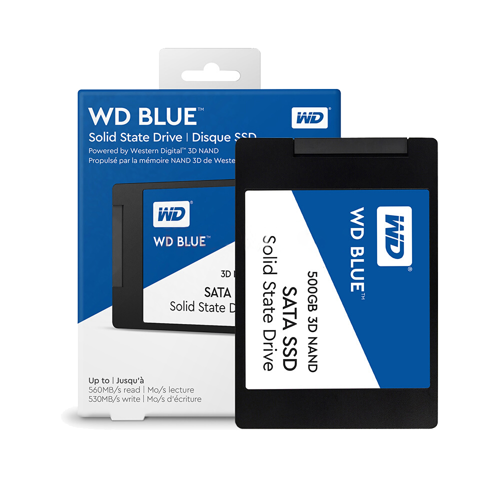 Western Digital Blue <font><b>SSD</b></font> interne Solid State Disque 250 <font><b>GB</b></font> <font><b>500</b></font> <font><b>GB</b></font> 1 TB - SATA 6 Gbit/s <font><b>2.5</b></font>
