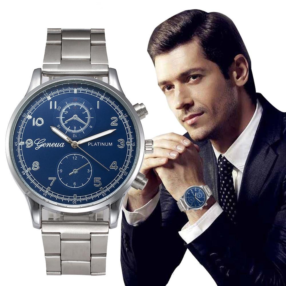 2019 Nouvelle Montre De Luxe Marque Montre À Quartz Hommes En Acier De Mode Casual Horloge Mâle D'affaires Montres relogio masculino erkek kol saati
