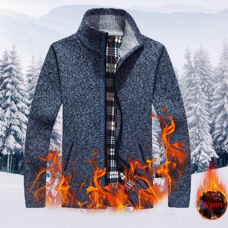 2019 Winter Parkas Men -15Degrees New knitting Men Jacket Coats Black Warm Jacket Casual Parka Thick Coat Men For Winter