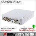 ХИК Turbo HD DVR DS-7108HGHI-F1 Поддержка как HD-TVI аналоговых и AHD Камеры 720 P 8-КАНАЛЬНЫЙ ВИДЕОРЕГИСТРАТОР Plug & Play XDVR