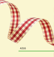 100yards/roll 1 Inch(25mm) Polyester Tartan Plaid Ribbon For Gift Wrapping