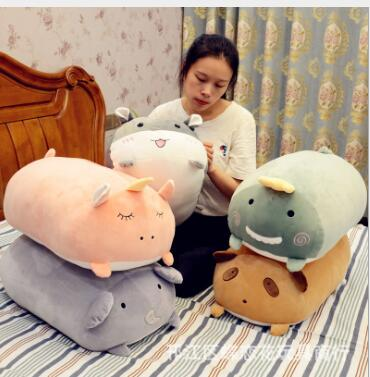 WYZHY Pillow long pillow cute lazy plush toy bed doll big doll super cute elephant 50CM in Stuffed Plush Animals from Toys Hobbies