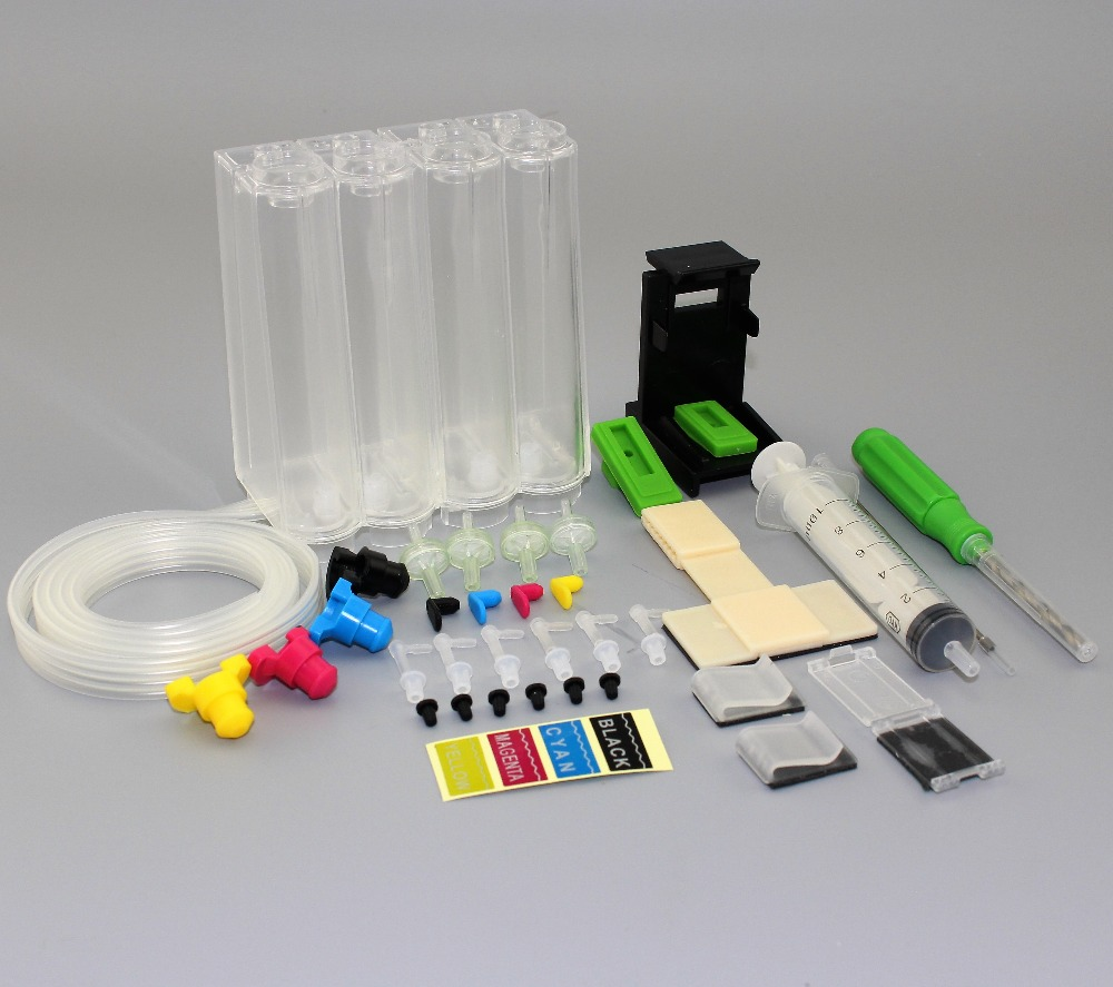 INK WAY Universal DIY CISS kits 4colors CISS ink tank with accessories for HP 650 662 701 702 802 703 704 816 817 818 850 851