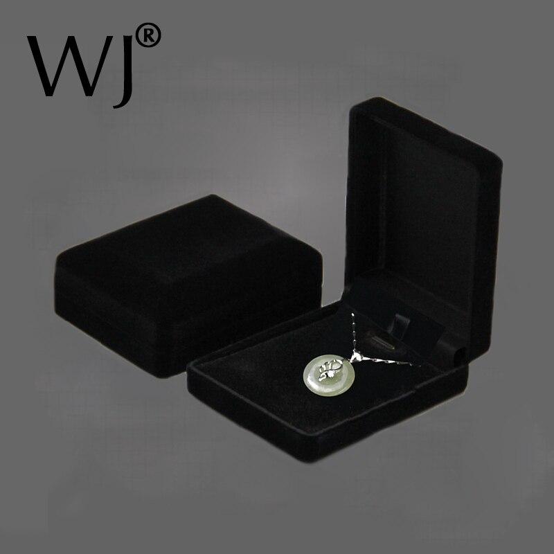 Hot Sale Black Velvet Bride Wedding Bride Jewelry Necklace Pendant Box Gift Colar Earrings Trinket Display Case Holder Organizer