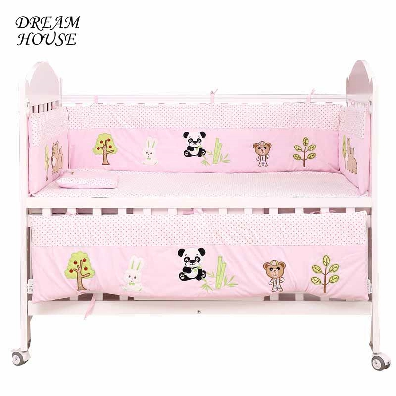 4pcs Newborn Baby Bed Bumper Baby Crib Bumpers Infant Cot Kids Bed Bedding Cartoon Cushion Cot Protector Boys Girls Room Decor for elephone p8 lcd screen display touch screen digitizer assembly by free shipping black