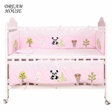 4pcs Newborn Baby Bed Bumper Baby Crib Bumpers Infant Cot Kids Bed Bedding Cartoon Cushion Cot Protector Boys Girls Room Decor