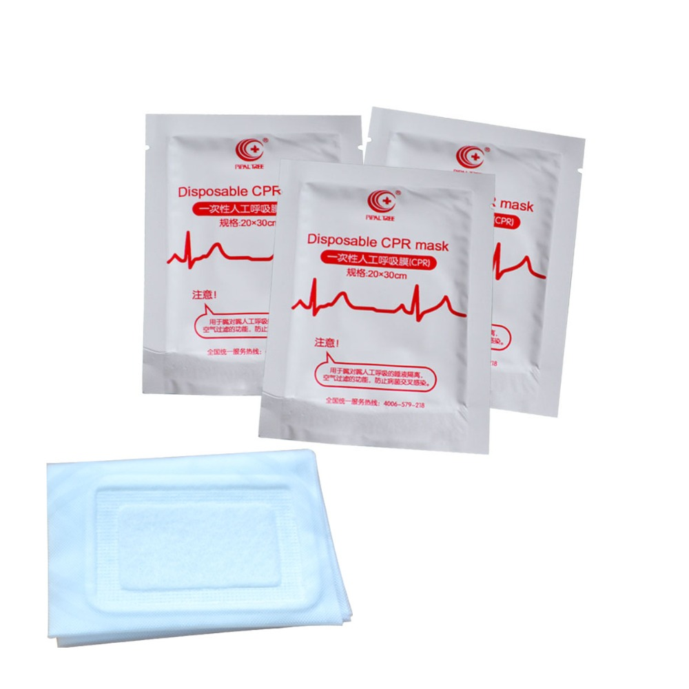 200Pcs/Pack Disposable CPR Mask Face Shield Hygiene Portable Barrier Disinfection Mask Mouth To Mouth Breathing Rescue Training 200pcs irlr024npbf irlr024n irlr024 to 252