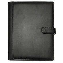 Черный A4 Конференц-папка для руководителя портфель из искусственной кожи органайзер для документов с калькулятором