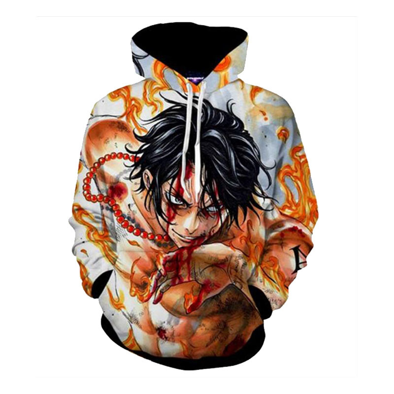 One Piece Hoodies Japanese Anime Monkey D Luffy & Portgas D Ace 3d Printing Man Women Hooded Pullovers Free Shipping 100% Original Men's Clothing