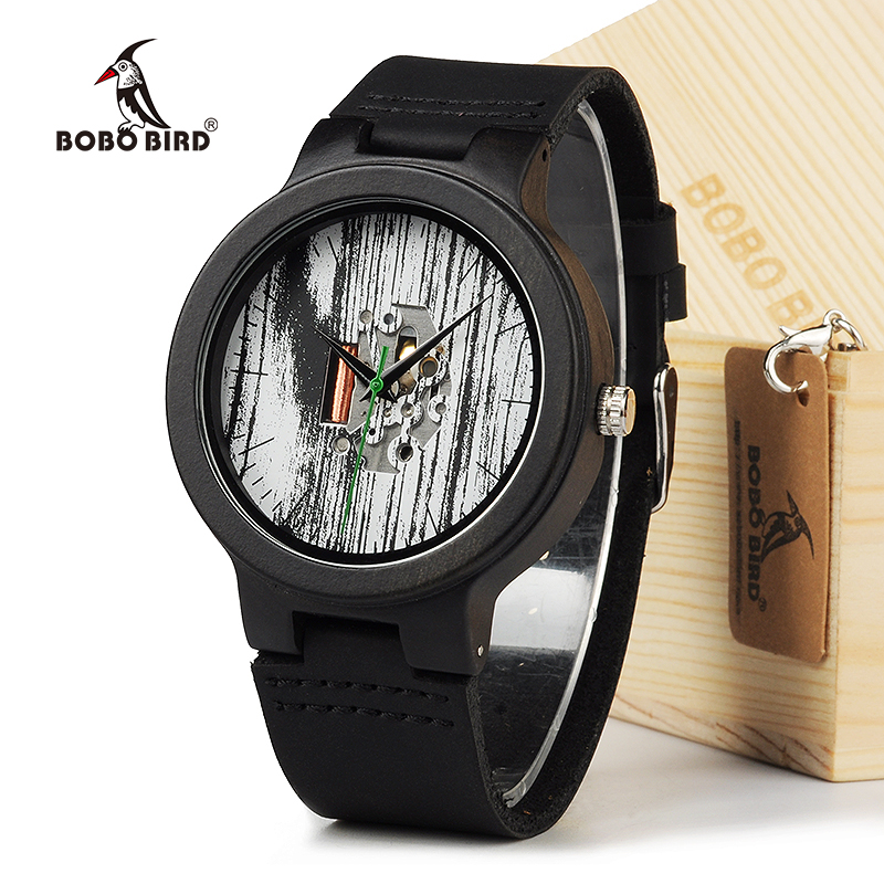 BOBO BIRD H14 Mens Top Brand Luxury Wood Watches Minimalist Design Bamboo Wooden Leather Band Wristwatch for Men In Gift Box taisser h h deafalla non wood forest products and poverty alleviation in semi arid region
