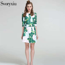 Spring Summer Style Runway Designer Casual Twinset Women's Print Half Sleeve Coat + Button Decoration Print Mini Half Skirt Sets