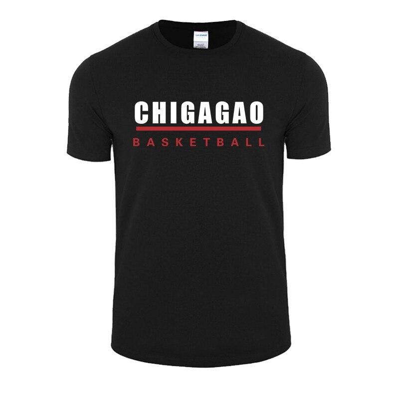Summer Men T Shirts Chicago Basket Ball Uniforms T Shirt