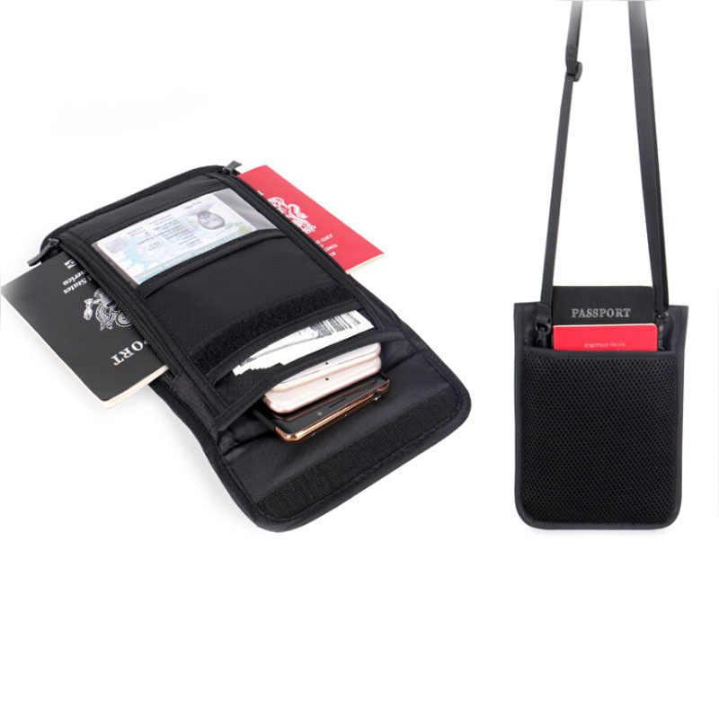 Водонепроницаемый визитница для удостоверения личности Обложка для паспорта сумка с RFID материалы многофункциональный дорожный кошелек сумки Противоугонная щетка