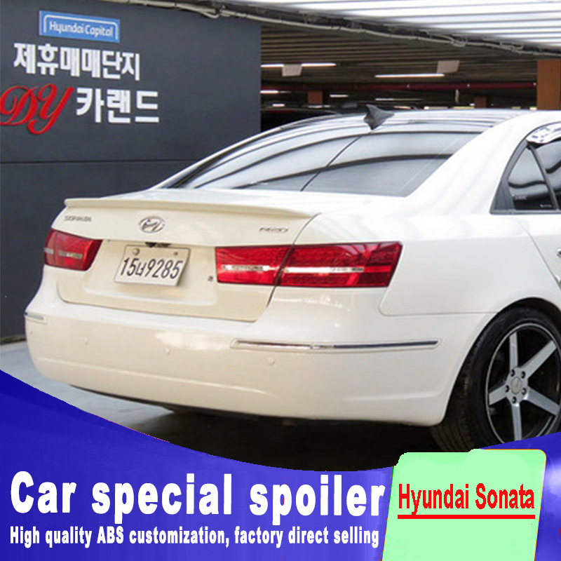 цена 2005 2006 2007 2008 2009 2010 for hyundai sonata rear trunk roof wing spoiler ABS material high quality by primer or DIY paint