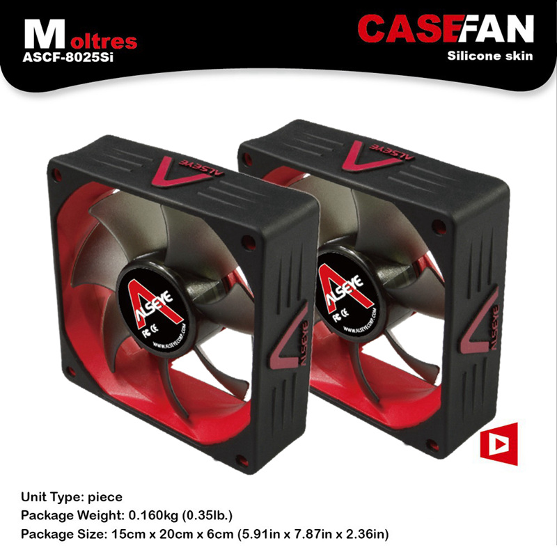 ALSEYE 80mm fan radiator cooling 2pieces 2000RPM 3pin silent 12v cpu cooler fan for computer цена и фото