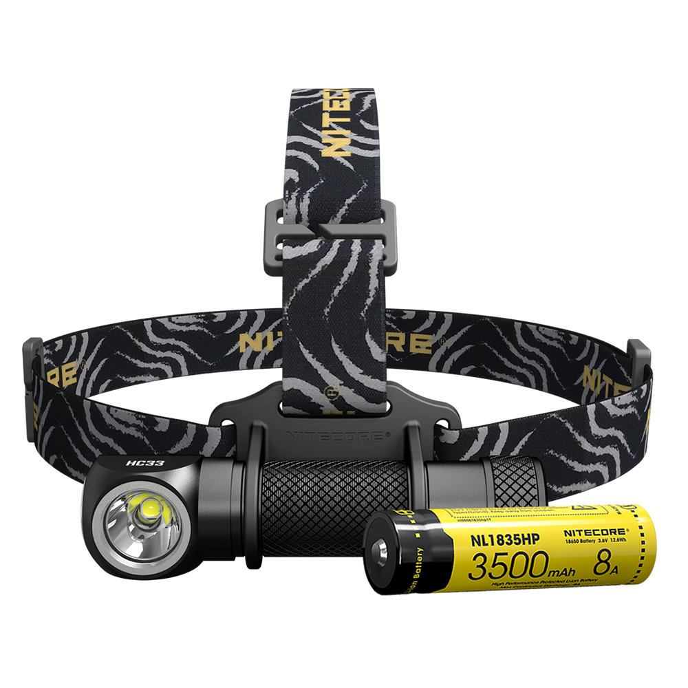 SALE NITECORE HC33 1800LMs Headlamp 3500mAh 8A Rechargeable Battery Headlight Waterproof Flashlight Camping Travel Free Shipping